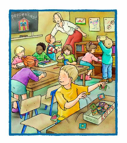 Druk Kind In De Klas